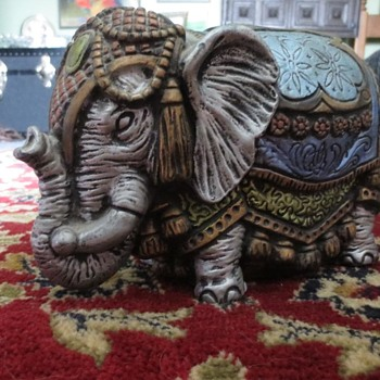 Blue and Grey painted elephant  - Animals