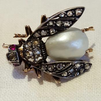Bumble bee 1880' brooch. - Fine Jewelry