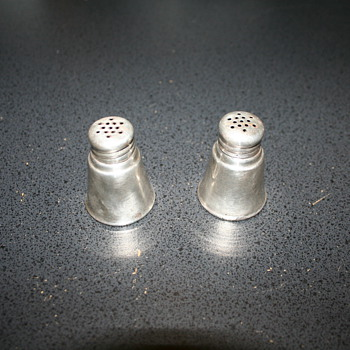 International  Sterling Silver Salt and Pepper Shakers - Silver