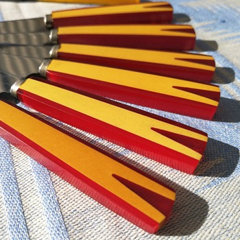 Bakelite fruitknifes from Solingen Germany  - Kitchen