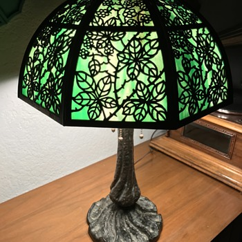 Bradley and Hubbard Tree Slag Lamp - Lamps