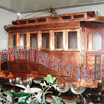 Trolley Car, Early Large Model, Jonathan Bailey - Model Trains
