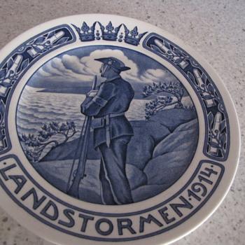 Landstormen Plate - Pottery