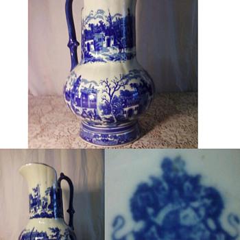 Cobalt/Glazed Pitcher - Pottery