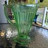 Jeannette Glass Company Adam Green Depression Glass Pitcher
