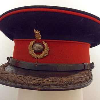 Royal Marine Officer's Forage cap. - Military and Wartime