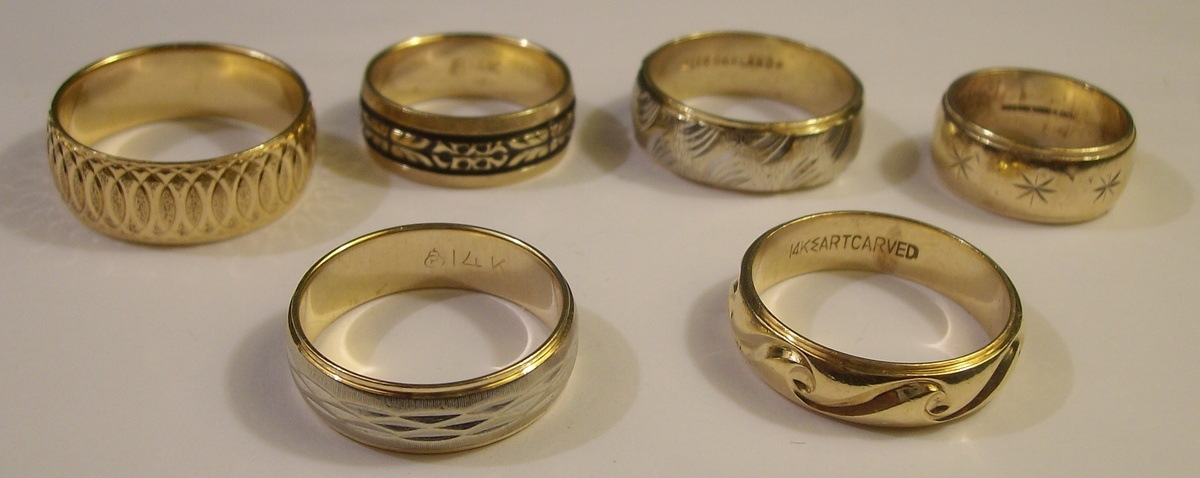Vintage 14k Decorative Wedding Bands 1950s 60s Collectors Weekly