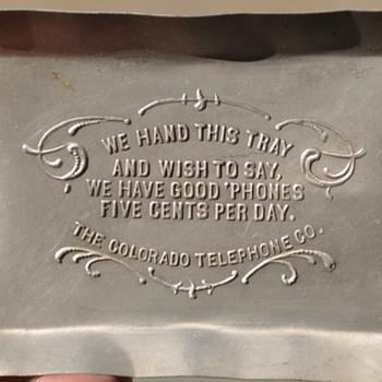 Colorado Telephone Co. advertising ashtray - Telephones