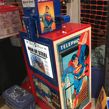 Superman Daily Planet Newspaper Stand  - Advertising