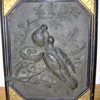 What a find Antique Art Nouveau Bronze Sculpture Nesting Birds, signed M. Carmille 1878  - Fine Art