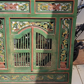 Antique peranakan window - Asian