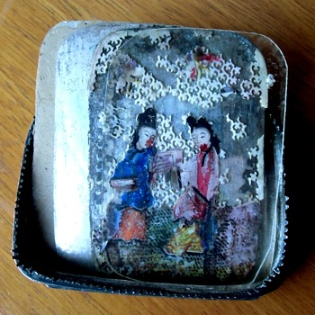 An Antique Mystery Sterling Silver Box, altered lid, and other findings, signed Sterling China - A CW Follow Up - Asian