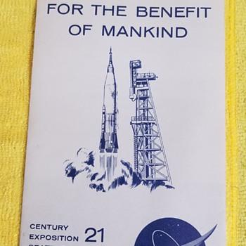 1962 Expo - NASA Exhibit Brochure  - Advertising