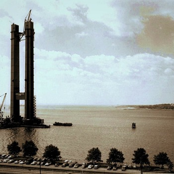 Spanning the Narrows waterway (1962) - Photographs