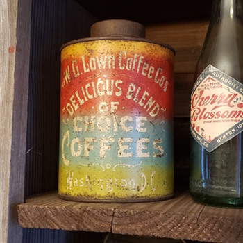 W.G Lown Coffee Co can - Advertising