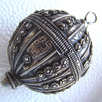 Chinese, India? Artist unknown signature on metalwork ball?  - Fine Jewelry
