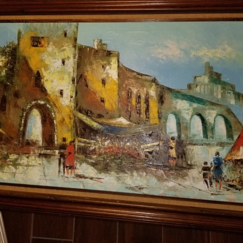 Can anyone tell me about this Rene caron painting? - Fine Art