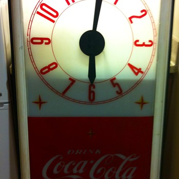 Tall Coca Cola Clock - Advertising