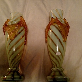 Mille Fiori pair of Glass Vases