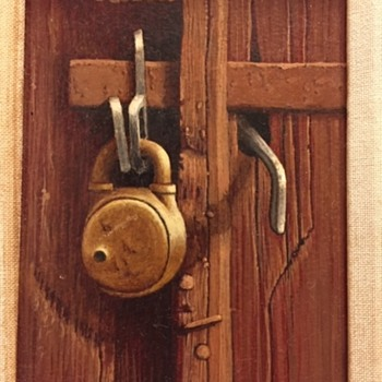 "Fantastic Oil Painting ""Locked Up"" Sally Fox- Seibel - Fine Art"