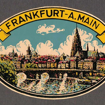 Travel Decal - Frankfurt A.Main (Germany)