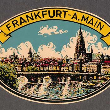 Travel Decal - Frankfurt A.Main (Germany)