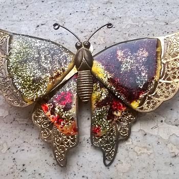 Very Delicate Swallowtail Butterfly Brooch *Flea Market Find*  $1.00 - Costume Jewelry