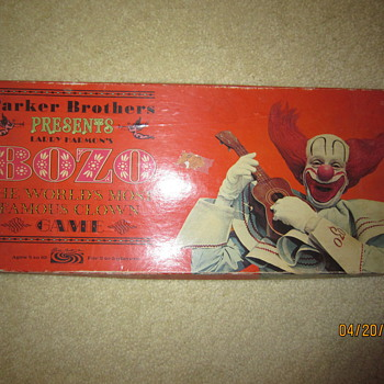 1967 Bozo The Clown Board Game - Games