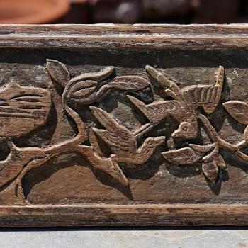 Carved Mahogany Panel