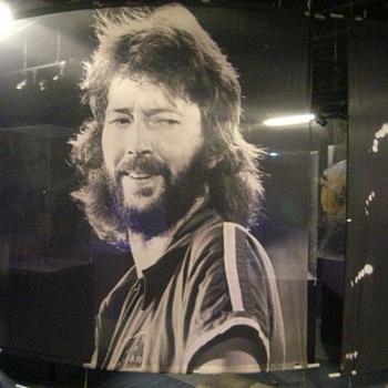 Eric Clapton silkscreen #2 - 11 feet wide x 9 feet tall  - Music Memorabilia
