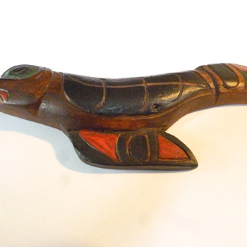 west coast native carved raven - Native American