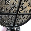 Waffle maker, antique cast iron, Fleur-de-lis and cross pattern.National Waffle Day is tomorrow- August 24!  Celebrate!!