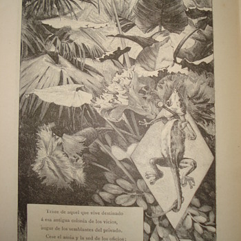 Second part of 1883 poem book: illustrations by Alexandre de Riquer  - Fine Art