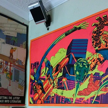 Fantastic Four Blacklight and RAW Posters with Comics - Comic Books