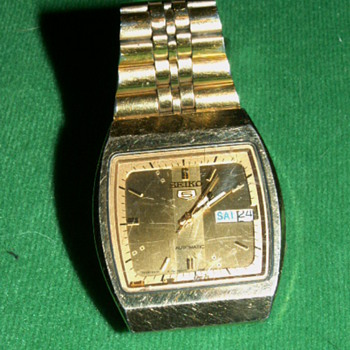Vintage Seiko 5 Automatic Mens Watch ~ 7009-5760 A1 - Wristwatches