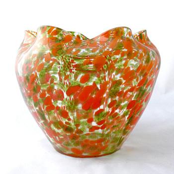 Lötz ROT FLIMMER bowl. 1904 - Art Glass