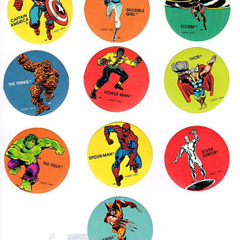Marvel Super Hero's Sticker Set PDQ - Comic Books