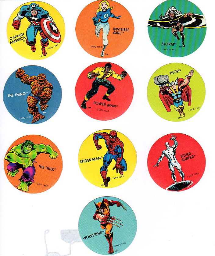 Marvel super heros sticker set pdq collectors weekly