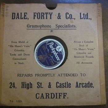 Dale Forty New Street Birmingham Gramophone and Records - Records