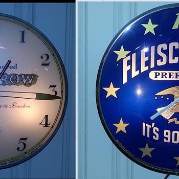 Whiskey advertising clocks - Advertising