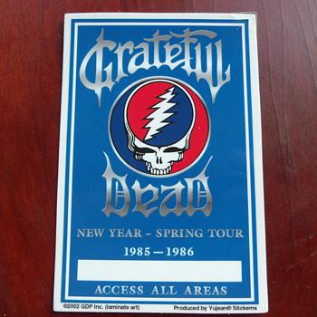 Grateful Dead random memorabilia from my collection