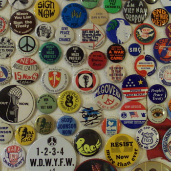 Ken Burns, PBS, and My Vietnam Pinback Buttons?