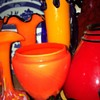 Tango urn red/orange with cobalt legs