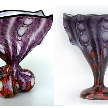 Welz Umbrella shapes - 4 sided shapes - Art Glass