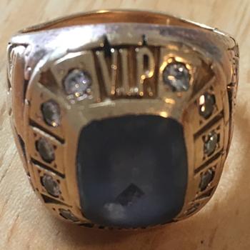 Rare Antique Gillette Company Gold Diamond Ring ( V.I.P. salesmans ) - Fine Jewelry