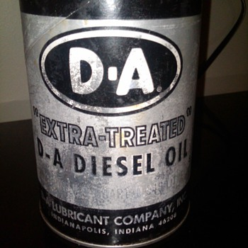 "D-A ""Extra Treated"" Diesel oil can"