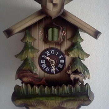Jumping fox and bambi cuckoo clock - Clocks