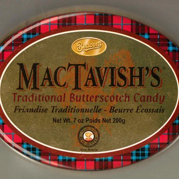 MacTavish's Butterscotch Candy Tin - Advertising