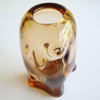 Czech glass vase by Beranek or Whitefriars knobbly? - Art Glass