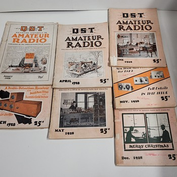 1928 QST Magazines - Paper